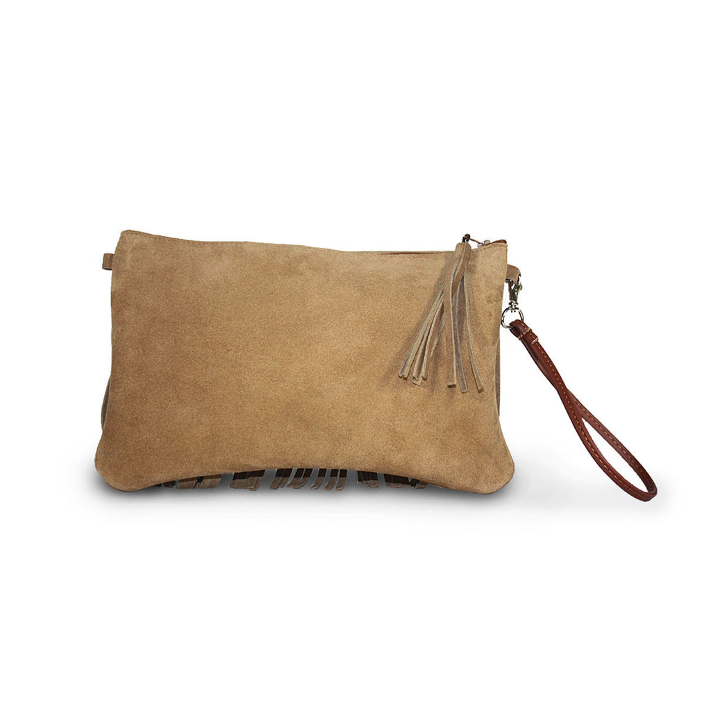 Tribal Clutch Chestnut suede online sale by UGG Australian Made Since 1974 Back view