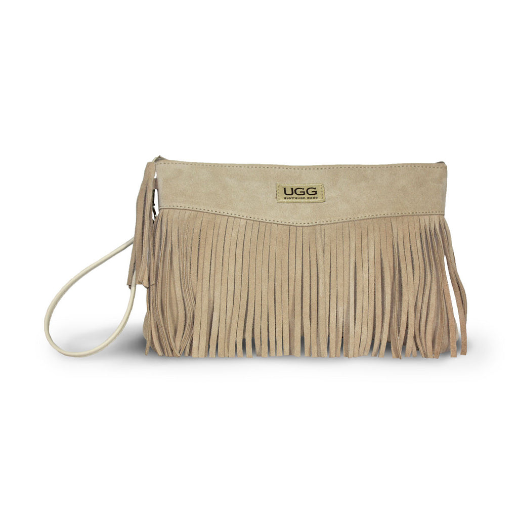 Tribal Clutch Sand suede online sale by UGG Australian Made Since 1974 Front view