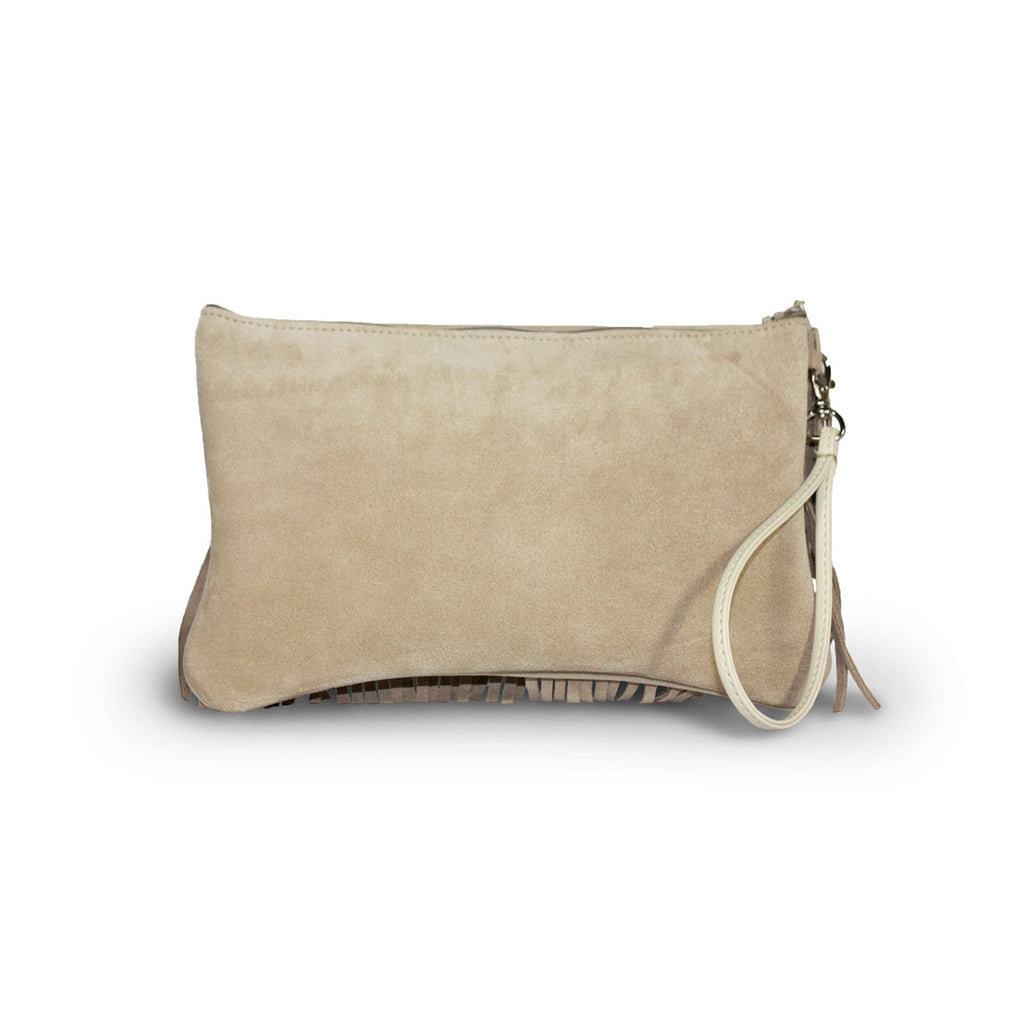 Tribal Clutch Sand suede online sale by UGG Australian Made Since 1974 Back view