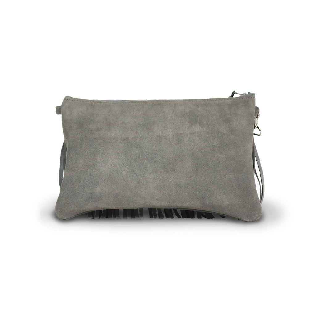 Tribal Clutch Slate grey suede online sale by UGG Australian Made Since 1974 Back view