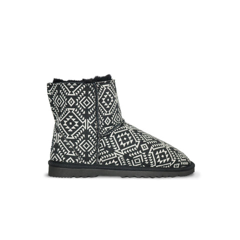 Classic Aztec Moon Mini sheepskin ugg boot online sale by UGG Australian Made Since 1974 Side view