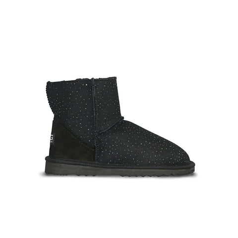 Classic Venus Mini Black sheepskin ugg boot online sale by UGG Australian Made Since 1974 Side view