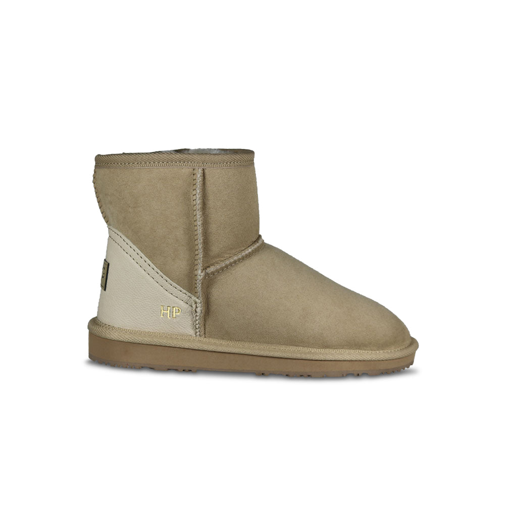 Classic Mini Monogram Sheepskin UGG Boot in Natural