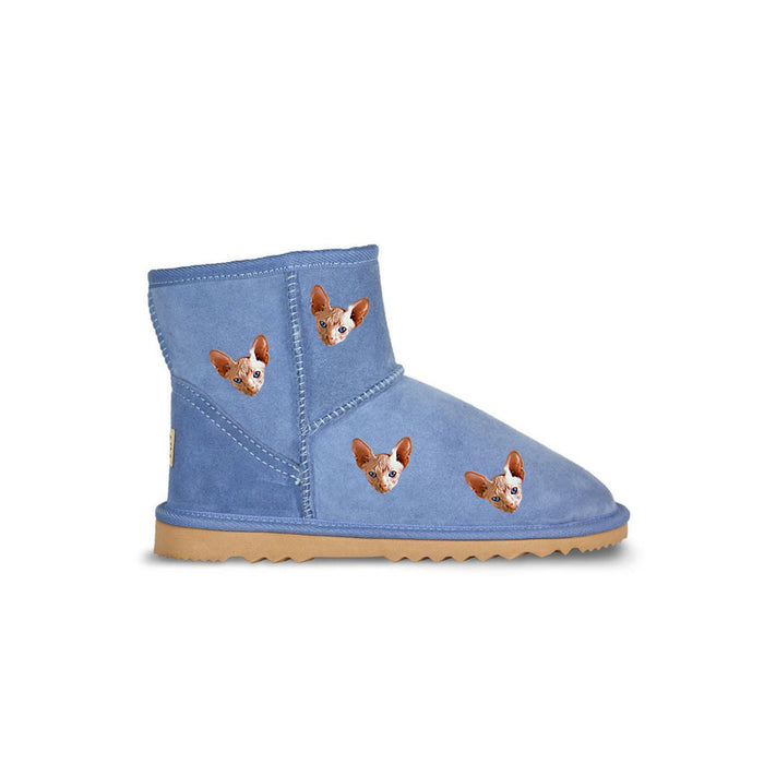 Custom Mini Pet Printed UGG Boots