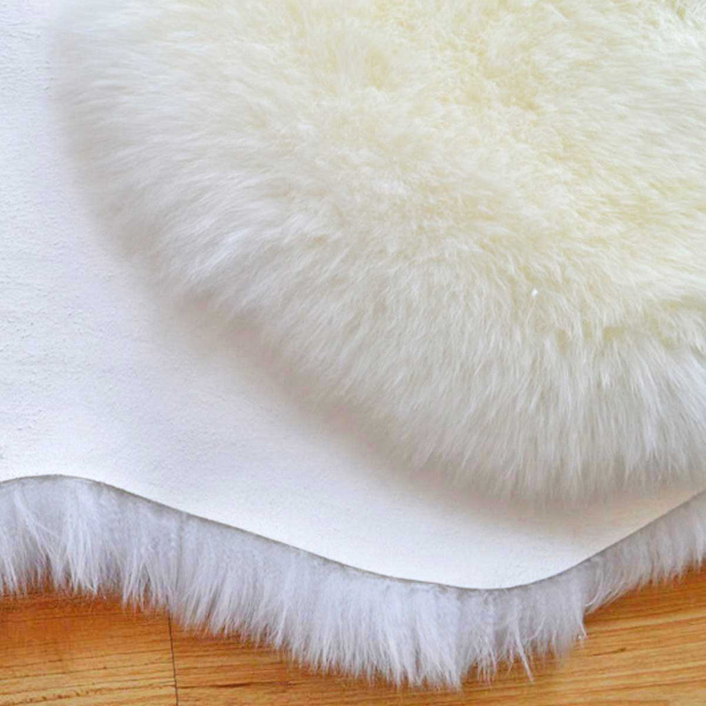 Ivory white sheepskin rug online sale by UGG Australian Made Since 1974 close up