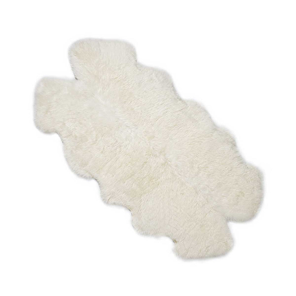 Ivory white Quad sheepskin rug online sale by UGG Australian Made Since 1974