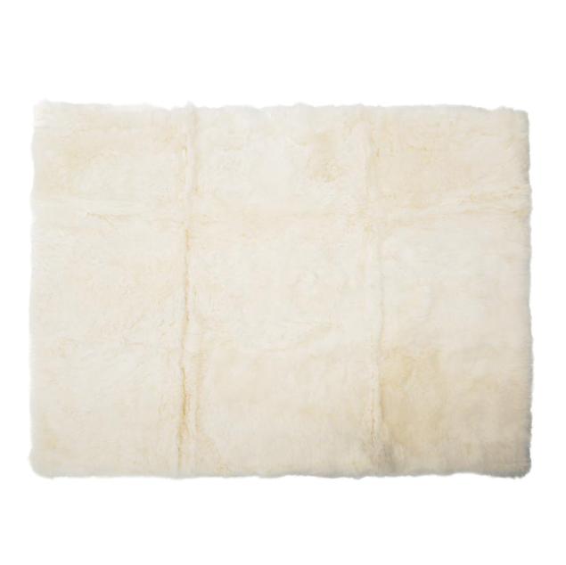 Sheepskin Floor Rug in Natural White