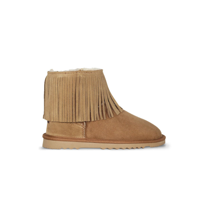 Classic Tribal Mini Chestnut sheepskin ugg boot online sale by UGG Australian Made Since 1974 Side view