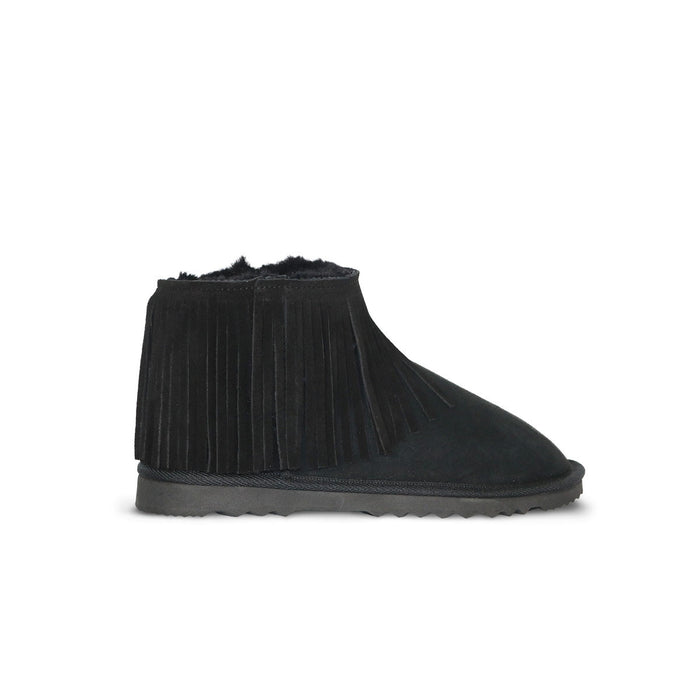 Classic Tribal Ultra Mini Black sheepskin ugg boot online sale by UGG Australian Made Since 1974 Side view