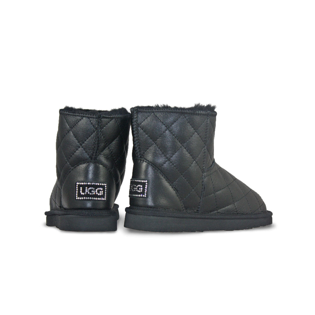 Classic SoHo Black Nappa sheepskin ugg boot online sale by UGG Australian Made Since 1974 Back angle view pair