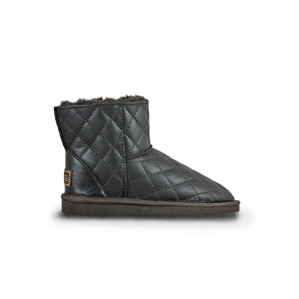 Classic SoHo Chocolate Nappa sheepskin ugg boot online sale by UGG Australian Made Since 1974 Side view