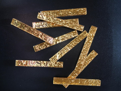 Glass silver backed strips: GOLD JN018-64 50gm bag