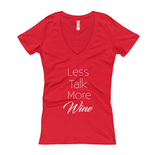 "Women's ""Less Talk"" V-Neck tee"