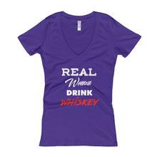 "Women's ""Real Women"" V-Neck tee"