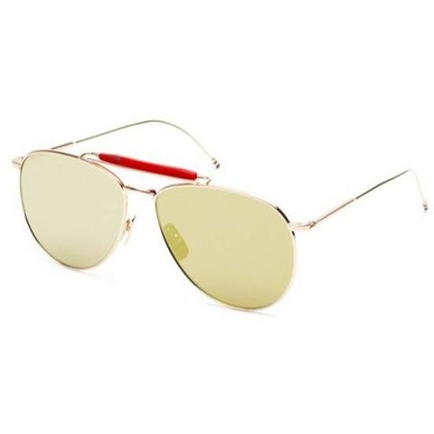 Thom Browne Sunglasses Gold-Red w/G-15-Gold Mirror-AR TB-015-LTD-GLD-62