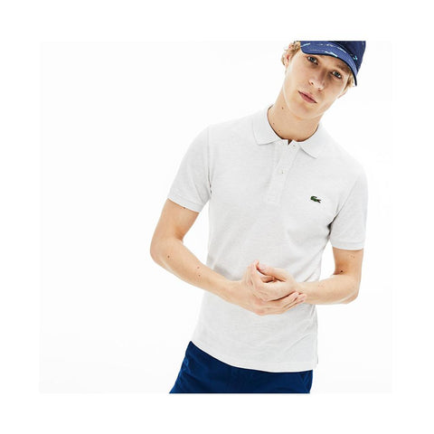 Lacoste Men's Slim fit Petit Pique Polo Shirt Alpes Grey Chine PH4012-51 HT1