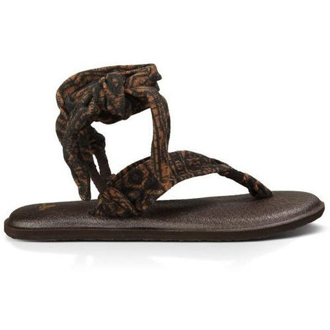 SANUK Yoga Slinged Up Prints Brown Brown Tribal