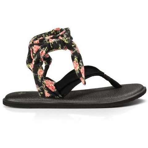 SANUK Yoga Slinged Up Prints Black Black Floral