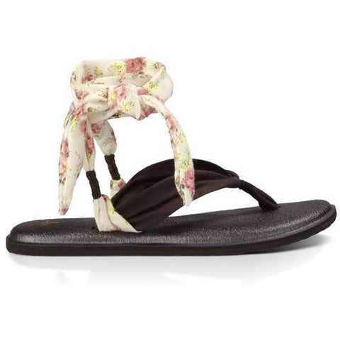 SANUK Yoga Slinged Up Prints Brown Natural Floral