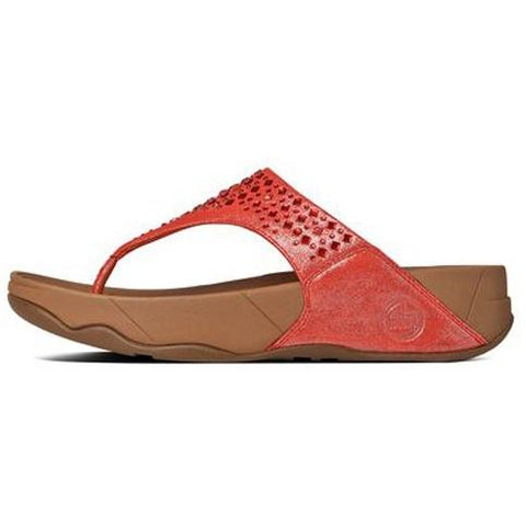 FITFLOP Novy in Suede Flame 507-210