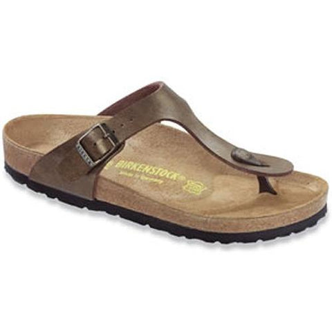 Birkenstock Women's  Gizeh Golden Brown Birko-flor 143943