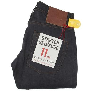The Unbranded Brand UB422 Tight Fit 11oz Stretch Selvedge