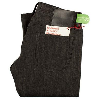 The Unbranded Brand UB204 Tapered Fit Black Selvedge