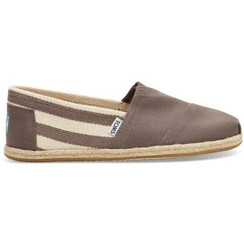 Toms Stripe University Men's Classic  10005418 Dark Grey