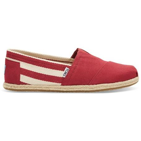 Toms Stripe University Men's Classic 10005418 Red