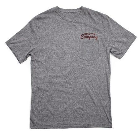 Brixton Wanderer S/S Pocket Tee Heather Grey 115-06337-0304
