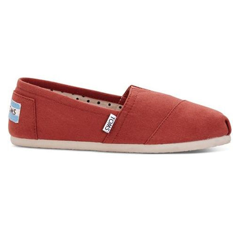 Toms Picante Red Canvas Women's Classic 10006170