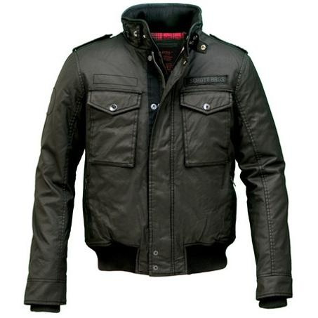 Schott Waxed Security Jacket Black 91070