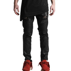 Embellish Testarossa Ripped Biker Denim (Black Wax) EMB15SP09-30