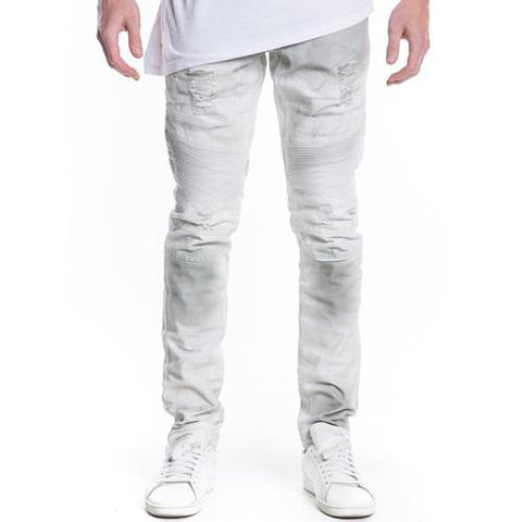 Embellish Malibu Biker Denim (White Gradient) EMB15QSC104