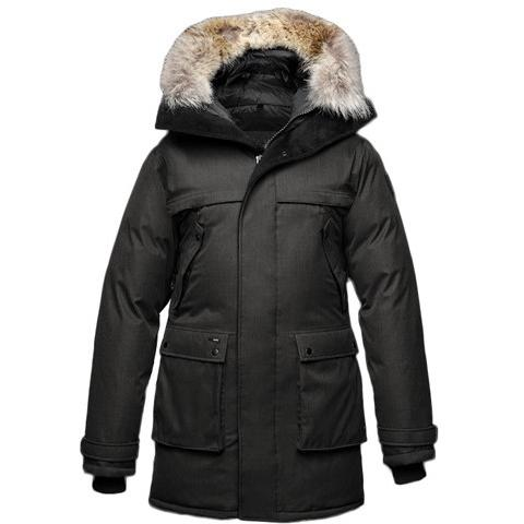Nobis The Yatesy Men's Parka Crosshatch Black