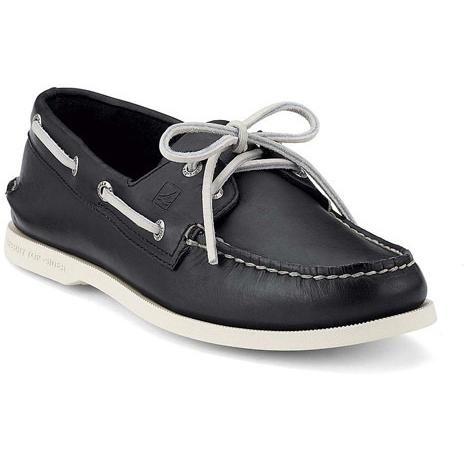 Sperry Mens AO 2-EYE Black White