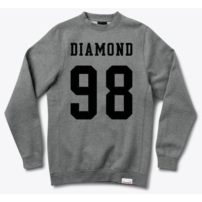 Diamond Supply NINE EIGHT CREWNECK SWEATSHIRT IN H.GREY D15DPE30