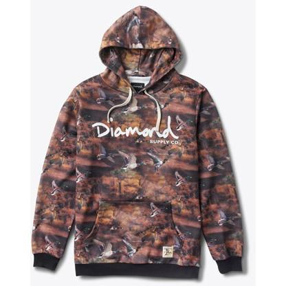 Diamond Supply PULLOVER HOOD IN BROWN D15DTG02