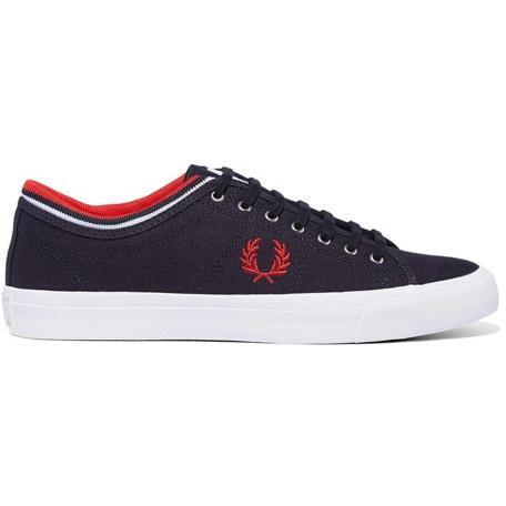 FRED PERRY KENDRICK TIPPED CUFF CANVAS SHOES B5210-608 NAVY