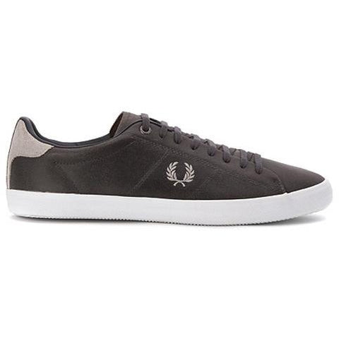 FRED PERRY HOWELES LEATHER B7508-491 CHARCOAL