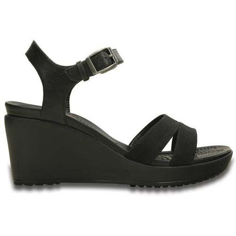 Crocs Women¡¯s Leigh II Ankle Strap Wedge in Black