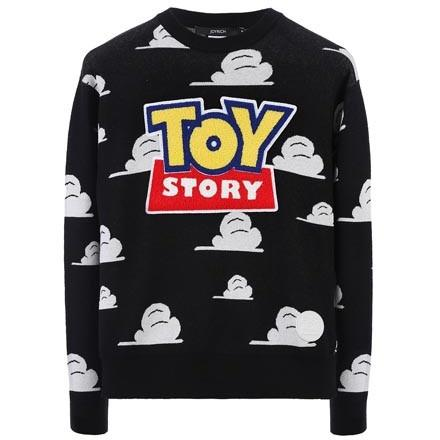 JOYRICH OPEN LOGO SWEATER / BLACK 15-473-00301-BLK