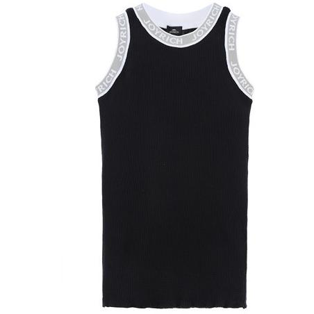 JOYRICH LOGO BAND THERMAL TANK in BLACK