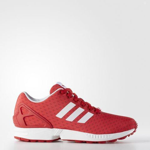 ADIDAS Womens Originals ZX Flux Shoe in Tomato/Scarlet/Running White