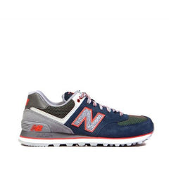 NEW BALANCE Classics Casual Running Shoes Deep Wate with Cool Grey&Orange ML574OIA