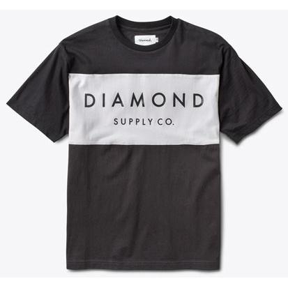 DIAMOND SUPPLY Yacht Colorblock Tee Black B16DMTF17