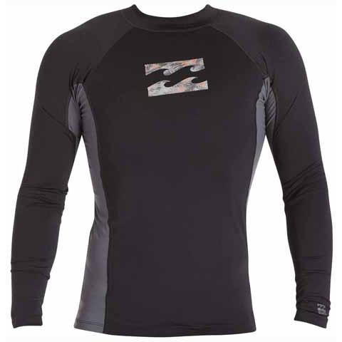 BILLABONG Iconic Long Sleeve Rashguard Black MWLYEICL