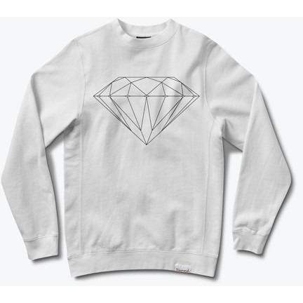 DIAMOND SUPPLY BRILLIANT CREWNECK SWEATSHIRT White B16DMPE30