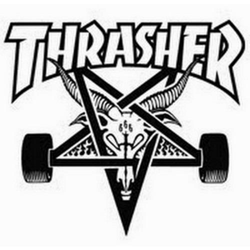 THRASHER Skate Goat Patch WHITE/BLACK 3131102