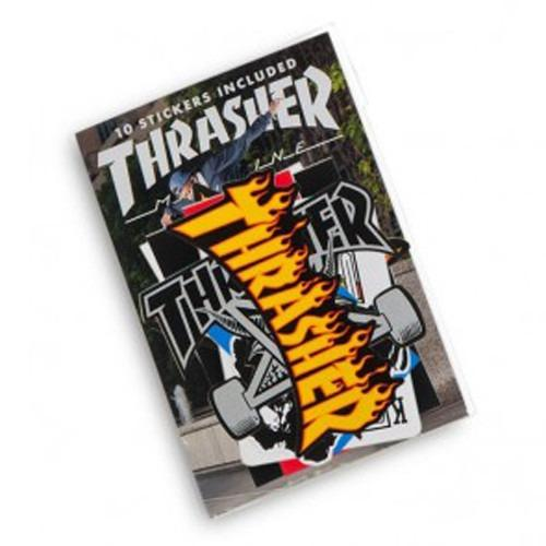 THRASHER Assorted Sticker 10 Pack Gold 3135010
